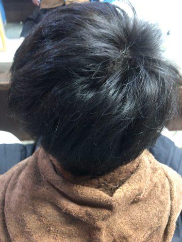 カラーリング前の黒髪