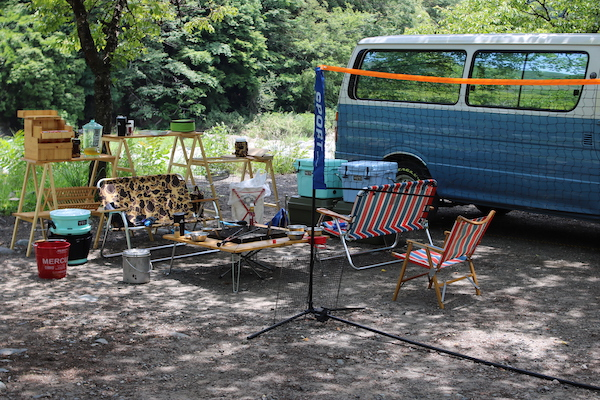 青野原オートキャンプ場でデイキャンプ