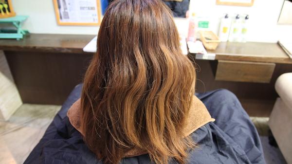 edol(エドル)のカラー剤で染める施術前の髪の毛